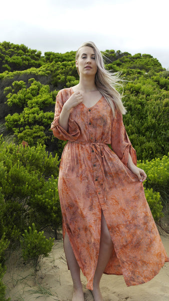 Native Duster/Dress- Apricot