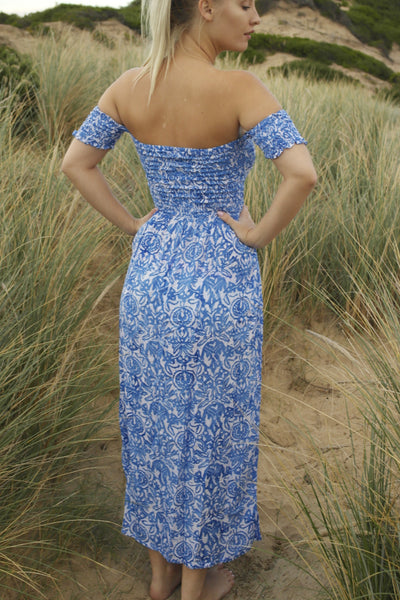 Wild Spirit Dress Maxi- Delft Blue