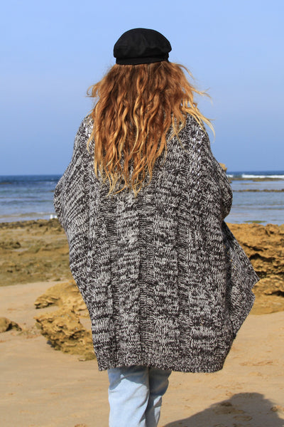 Freedom Cable Knit Cardi- Grey Marle