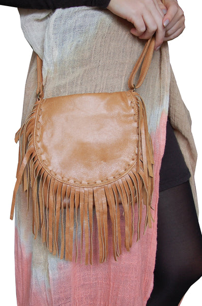 Festival Fringe Bag- Tan