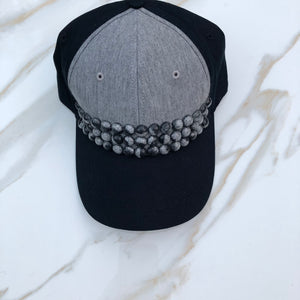 Taylor Baseball Cap (Black/Gray Pearls)