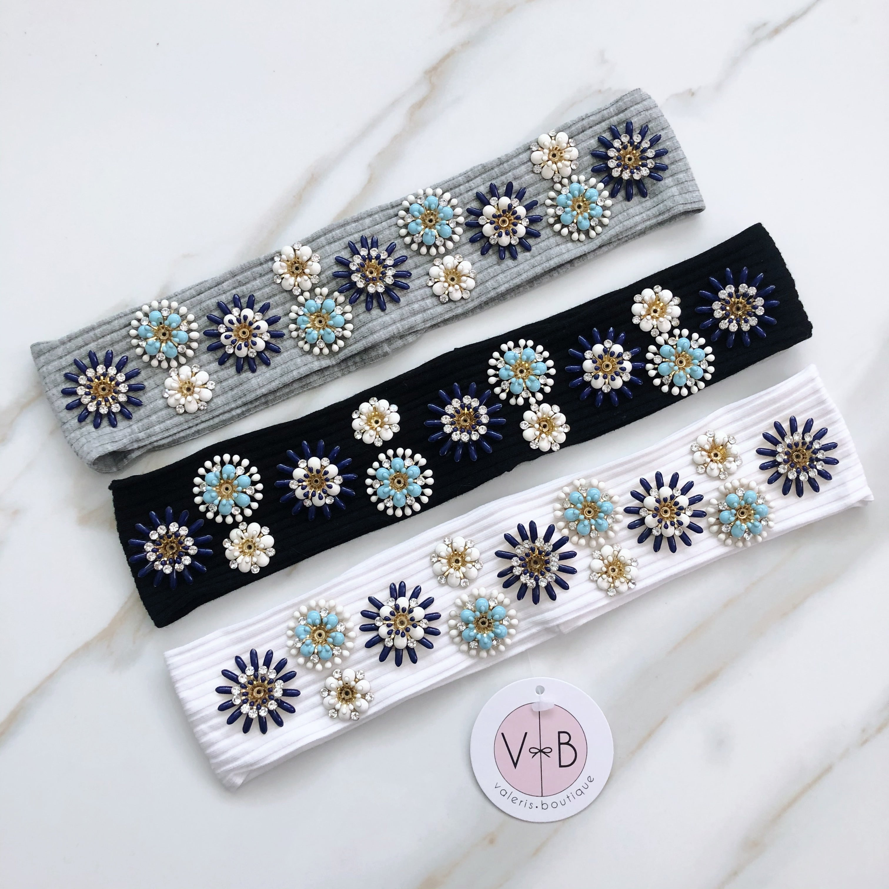 Ivy Floral Skinny Band