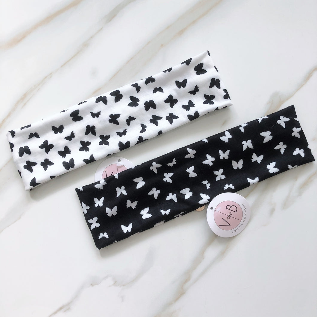 VB Signature Butterfly Pattern Flat Headband