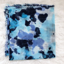 Load image into Gallery viewer, Tie Dye Splash Square Scarf