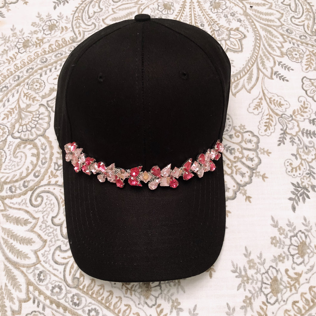 Miami Pink Crystal Trim Cap