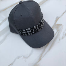 Load image into Gallery viewer, Taylor Baseball Cap (Black/Gray Pearls)
