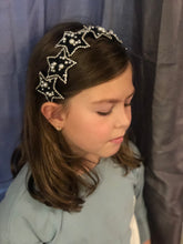 Load image into Gallery viewer, Brielle Black & Pearl Star Girls Headband
