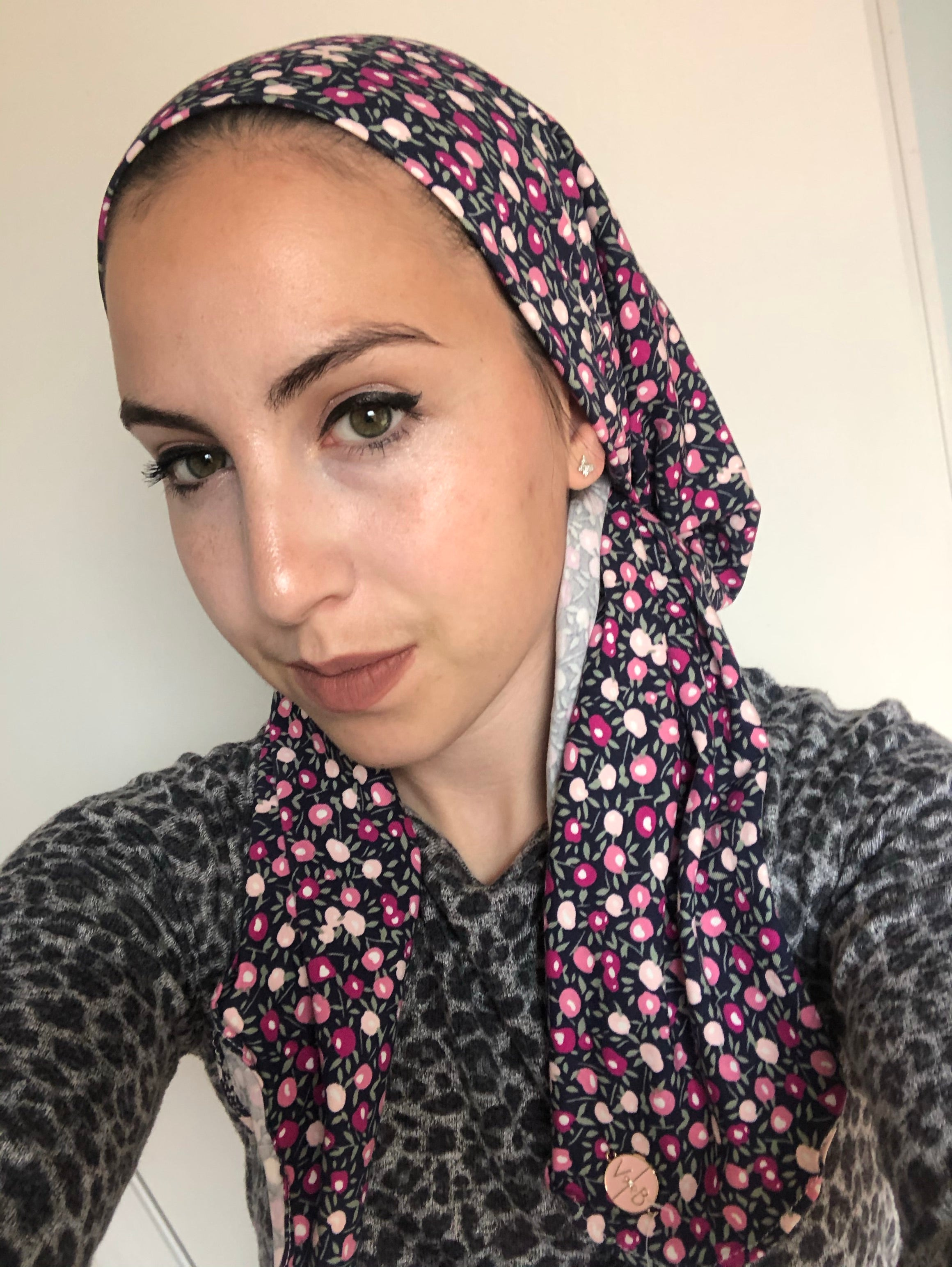 Feminine Flower Headscarf