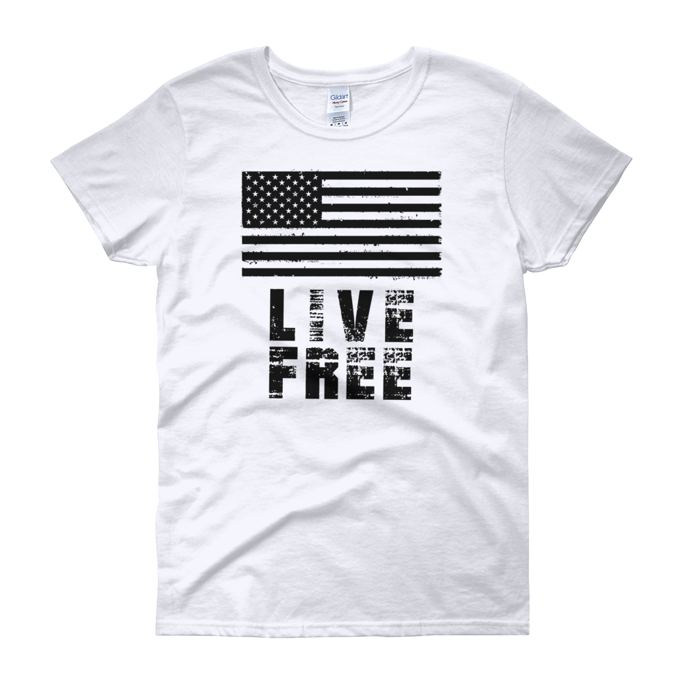 Live Free Flag Women's short sleeve t-shirt