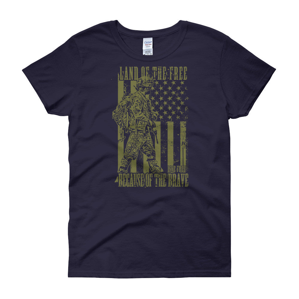 Land of the Free Women's short sleeve t-shirt