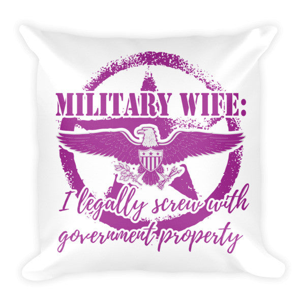 Military Wife Pillow