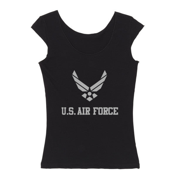 Air Force Reversible women's cap sleeve t-shirt