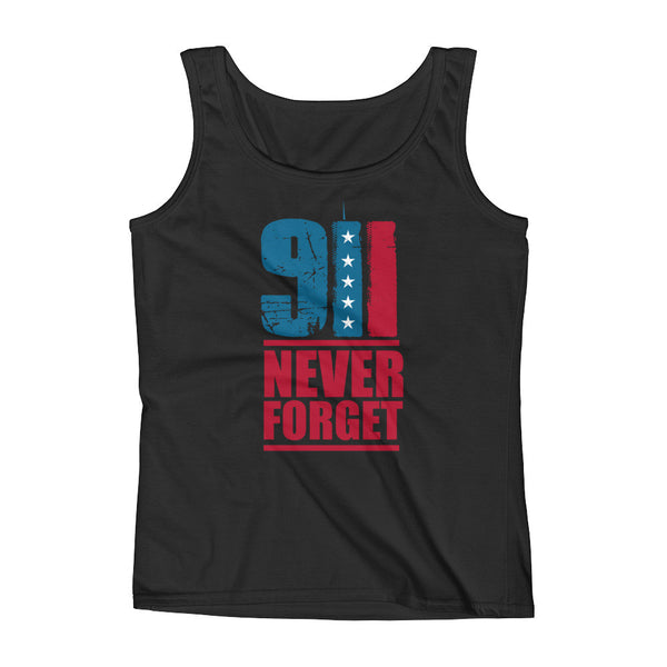 9/11 Never Forget Ladies' Tank