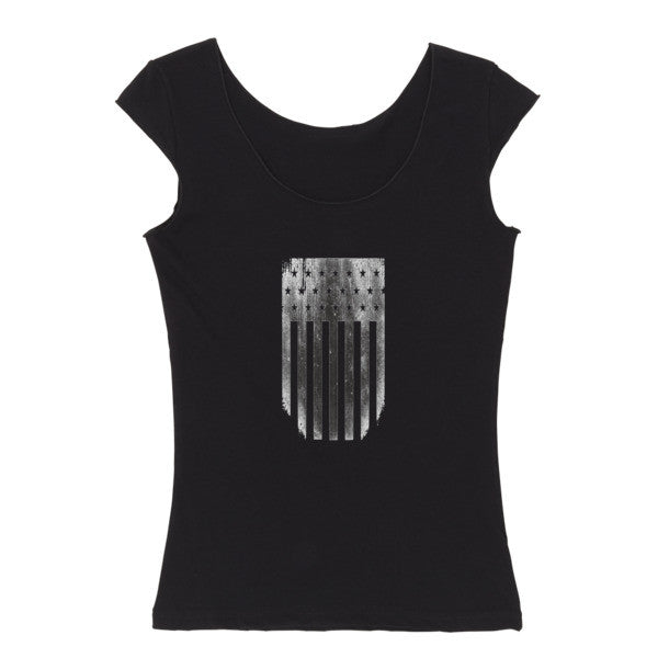 Shield Reversible women's cap sleeve t-shirt