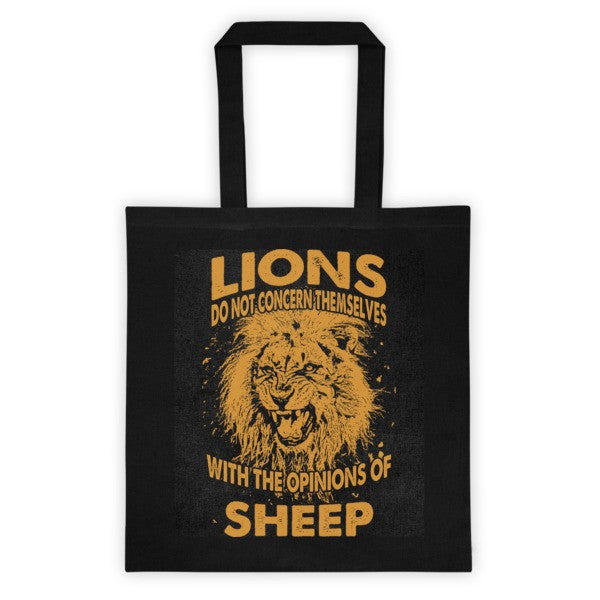 Lions & Sheep Tote bag