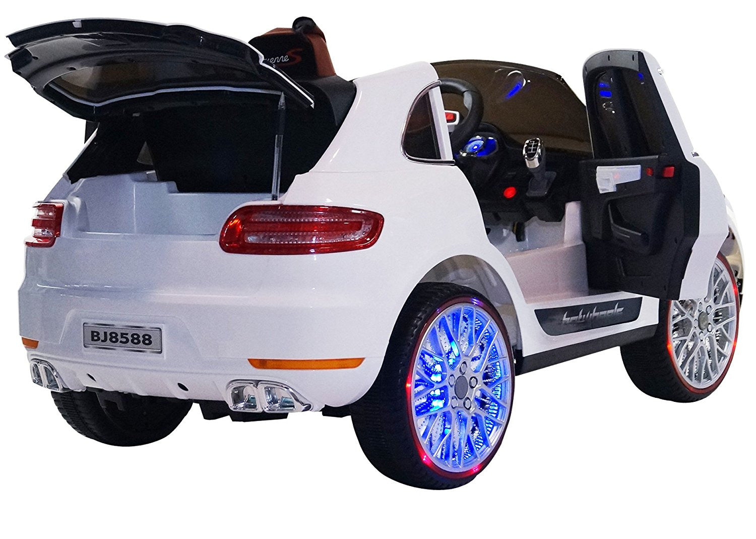 porsche cayenne style premium ride on electric toy car for kids led lights mp3