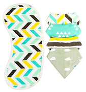 Bandana Bib Set Yellow/Teal