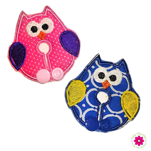 Pink and Blue Owl Tubie Pads Feeding Tube J-tube G-tube