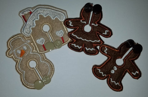 Set - Gingerbread - Feeding Tube Pad - Tubie Whoobies