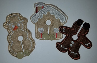 Set - Gingerbread - Boy Only - Feeding Tube Pad - Tubie Whoobies