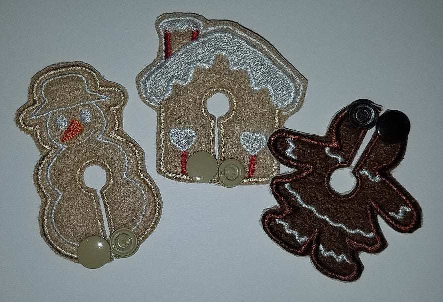 Set - Gingerbread - Girl Only - Feeding Tube Pad - Tubie Whoobies