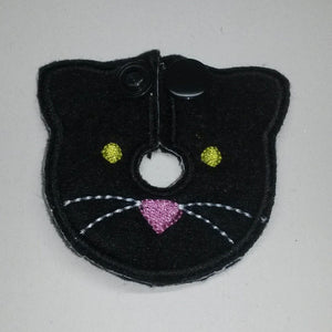 Cat - Black - Feeding Tube Pad - Tubie Whoobies