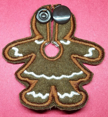 Gingerbread Woman - Feeding Tube Pad - Tubie Whoobies