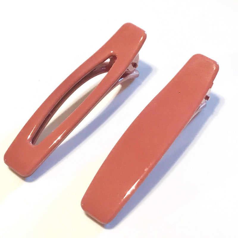 90's Duo Hair Clip Set - Dusty Rose