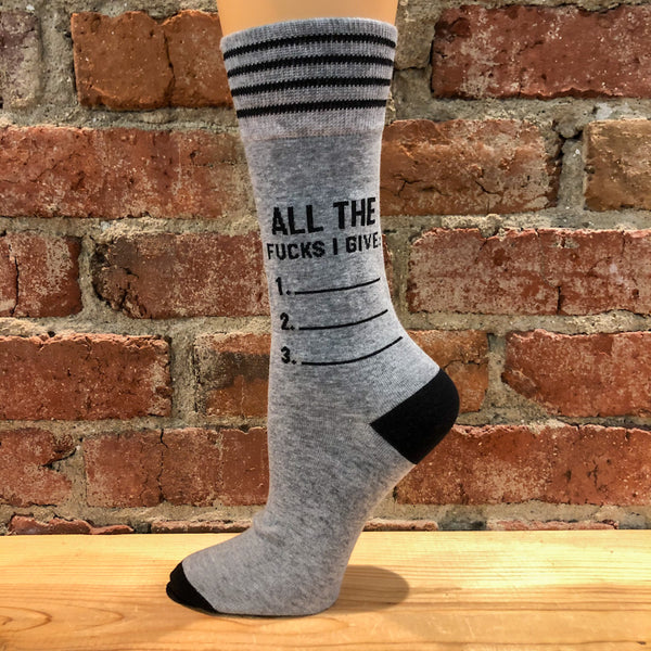 All The Fucks I Give Socks