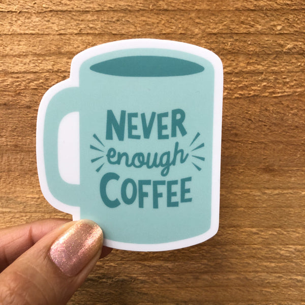 Never Enough Coffee Sticker