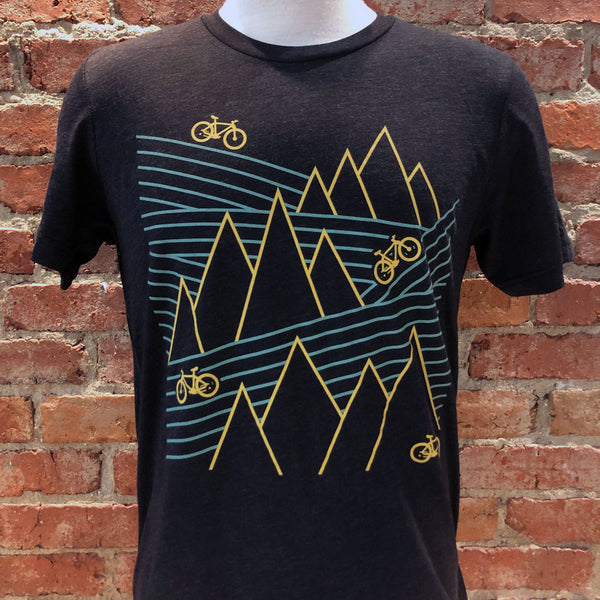 Unisex Mountain Bike Lines Tee