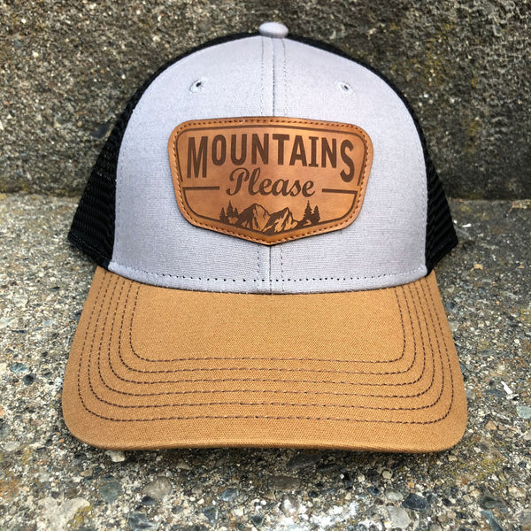 Mountains Please Trucker Grey