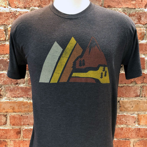 Unisex Retro Mountain Tee