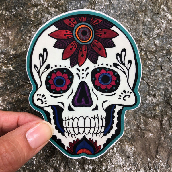 Calavera Flora Sticker
