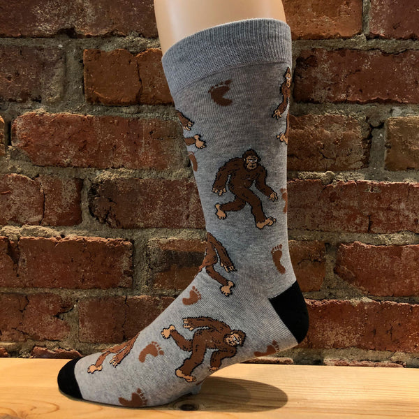Men's Big and Tall Bigfoot Socks
