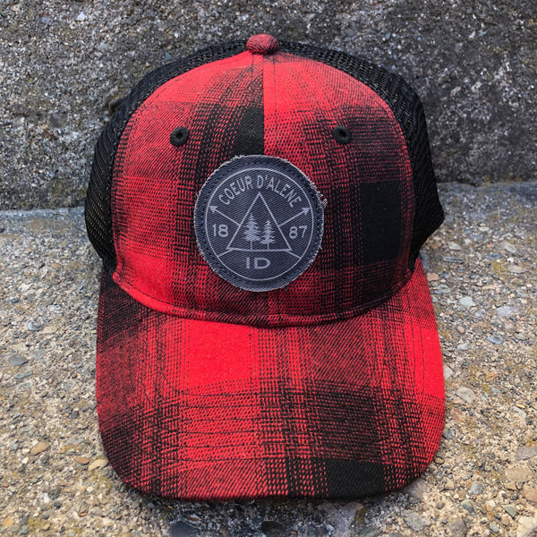 Pines Etched Hat O/S Plaid