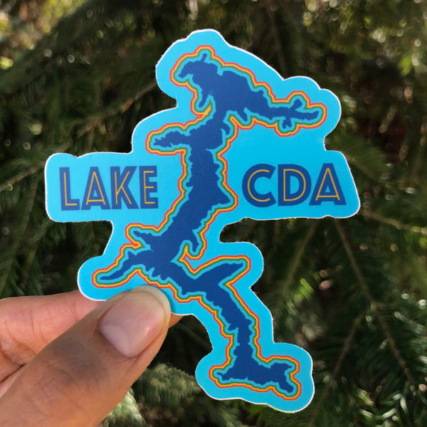 Retro Lake CDA Sticker