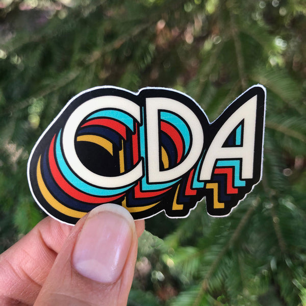 Vintage CDA Small Sticker