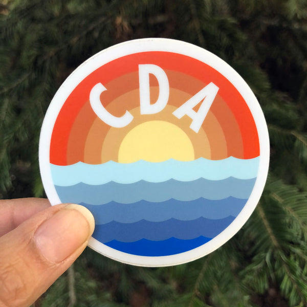 CDA Sunrise Waves Sticker