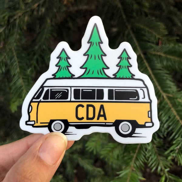 CDA Bus and Trees Sticker