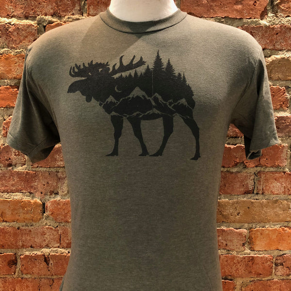 Unisex Moose and Mountains Tee
