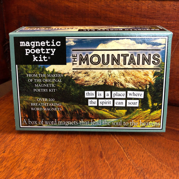 Mountains Magnetic Poetry