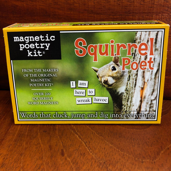 Squirrel Poet Magnetic Poetry