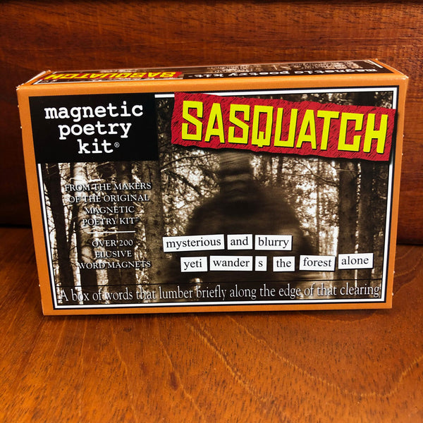 Sasquatch Magnetic Poetry