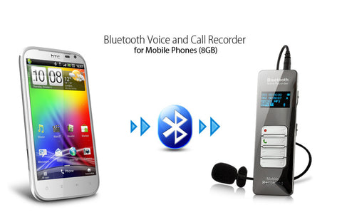 $$$SAVE$$$ Voice and Call Recorder for Mobile Phones with Bluetooth and 8GB.