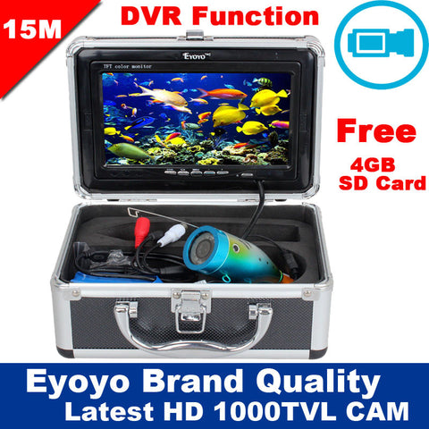 $$$SAVE$$$ Free Shipping! Eyoyo Original 15M 1000TVL HD CAM Professional Fish Finder Underwater Fishing Video Recorder DVR 7