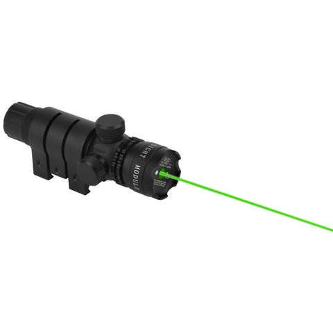 1 set Optical Hunting Sight with Scope Mount and Green Laser Sight + 4.2V Black Flashlight.