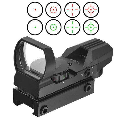 20mm Rail Riflescope Hunting Airsoft Optics Scope Holographic Red Dot Sight Reflex 4 Reticle Tactical Gun Accessories Hot Sale