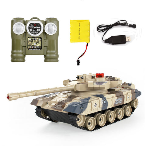 Remote Control Battle Tank Kids Gift RC Tanks parent-child infrared Remote Control with turret Tank model Battle Toy Car