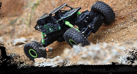Ewellsold RC Car 4WD Rock Crawlers 4x4 Driving Car Double Motors Drive Bigfoot Car Remote Control Model Off-Road Vehicle Toy